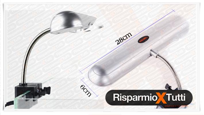 Lampada plafoniera flessibile luce per acquario e for Lampada tartarughiera